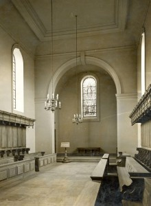 Chapel interior 1936, copyright Somerville College