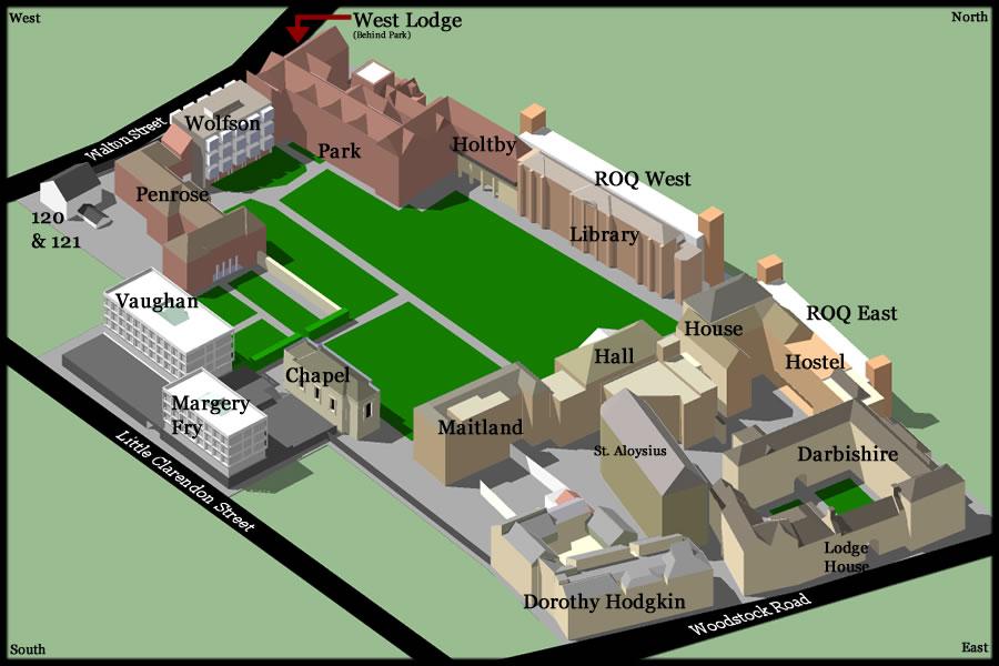 College Map Somerville College
