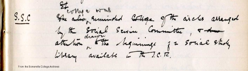 Minutes of College Meeting 17 October 1917