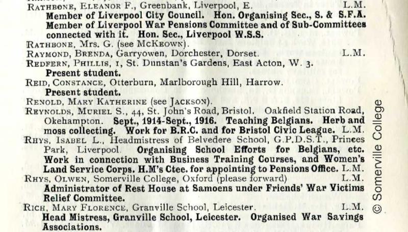 SSA War Work List
