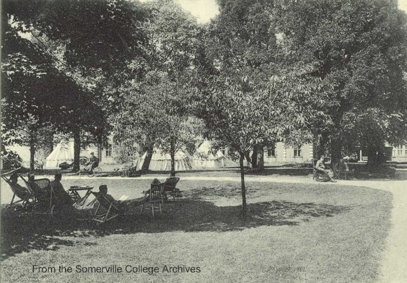 Patients in the grounds of the Somerville Section