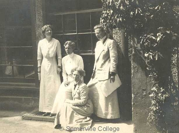 Members of the SCR including Miss Darbishire (1st left) and Miss Lorimer (2nd right)