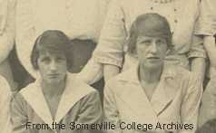 Winifred Holtby and Vera Brittain 1921 college photo