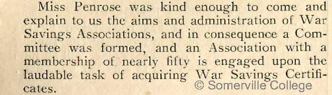 The Fritillary December 1916; the St Hugh's War Savings Association